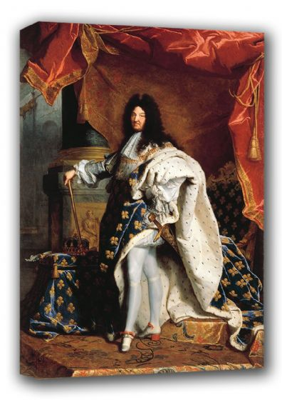 Rigaud, Hyacinthe Francois: Portrait of Louis XIV (14th) of France in Royal Costume. Fine Art Canvas. Sizes: A3/A2/A1 (00856)
